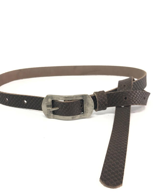 Individual Art Leather Halo belt brown
