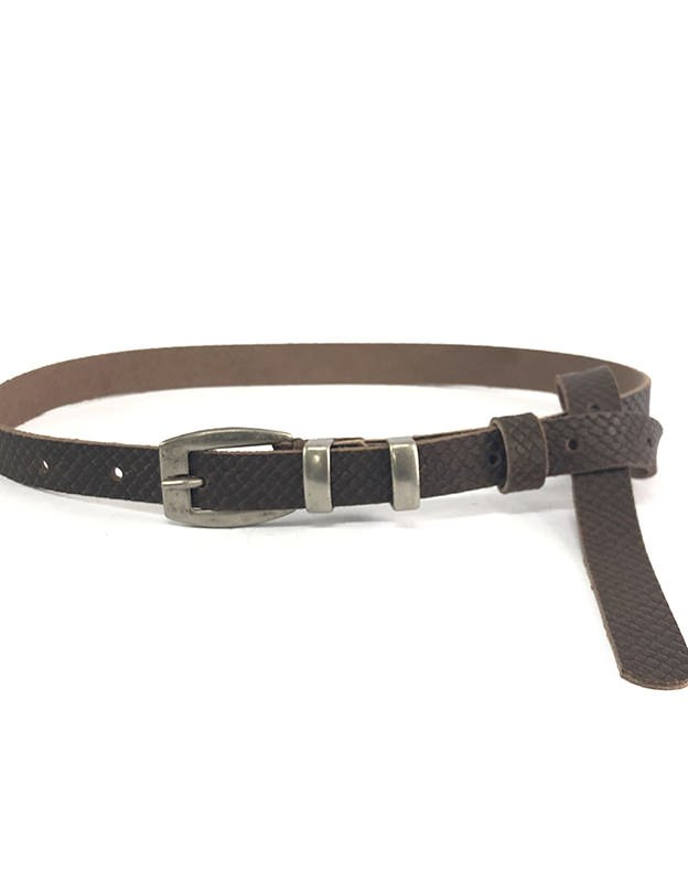 Individual Art Leather Hurt belt brown