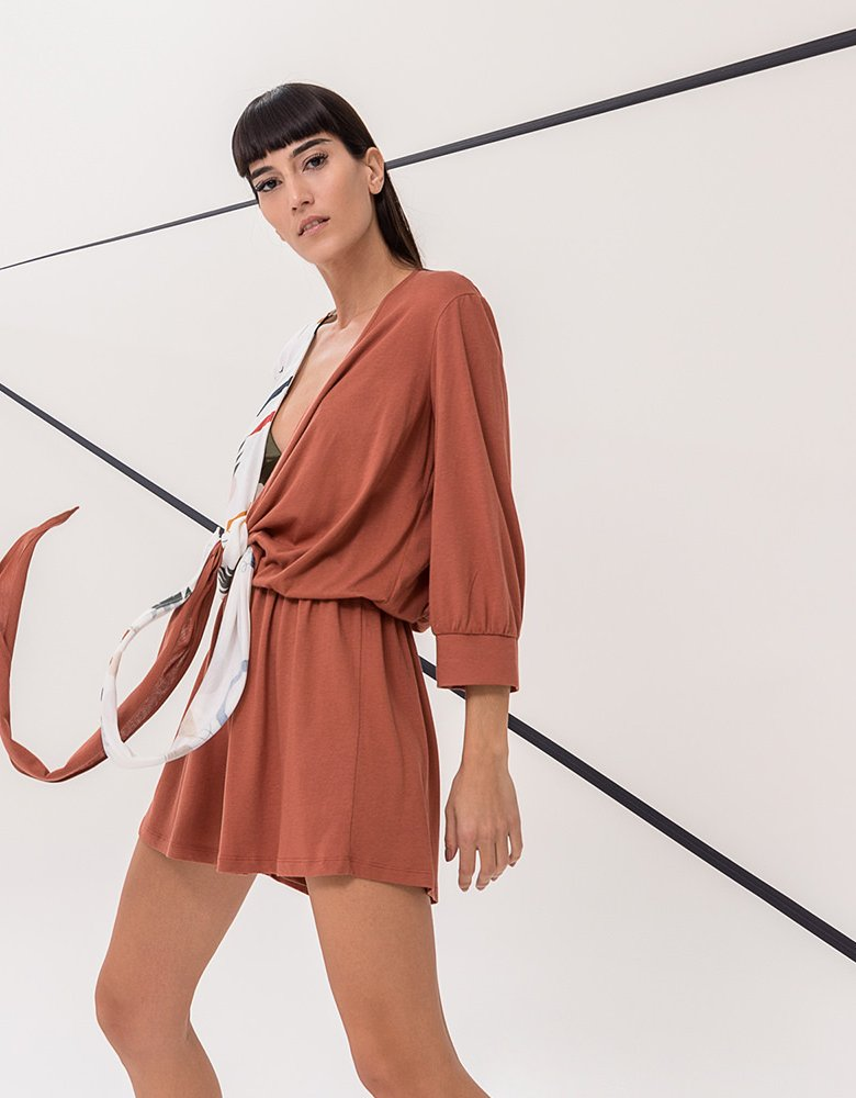 The Knl's Willow playsuit giraffe