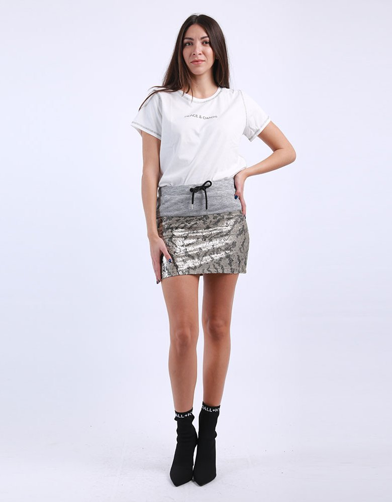 Kendall + Kylie KK Tiger sequin skirt