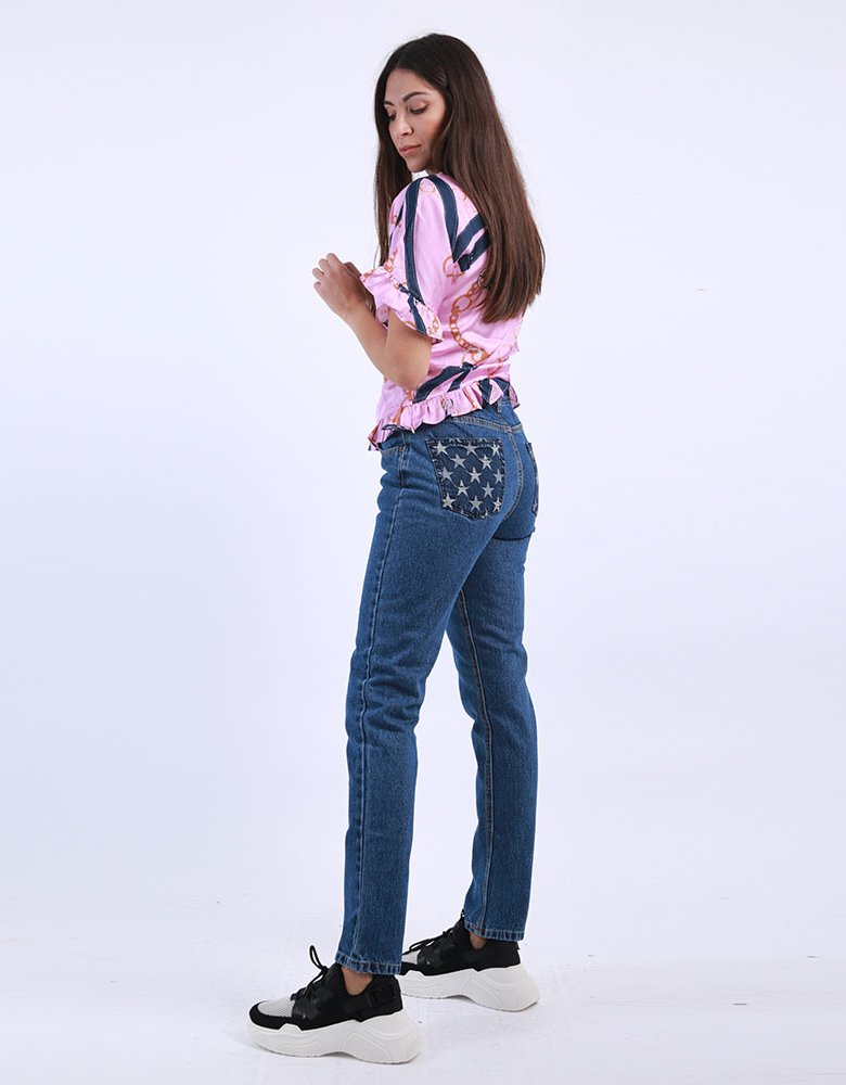 Kendall + Kylie KK Chain & belt print top