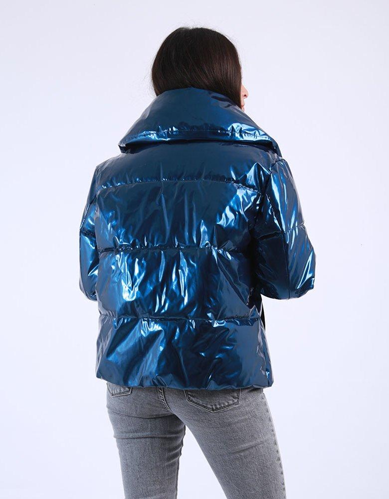 Kendall + Kylie KK Puffer blue coat