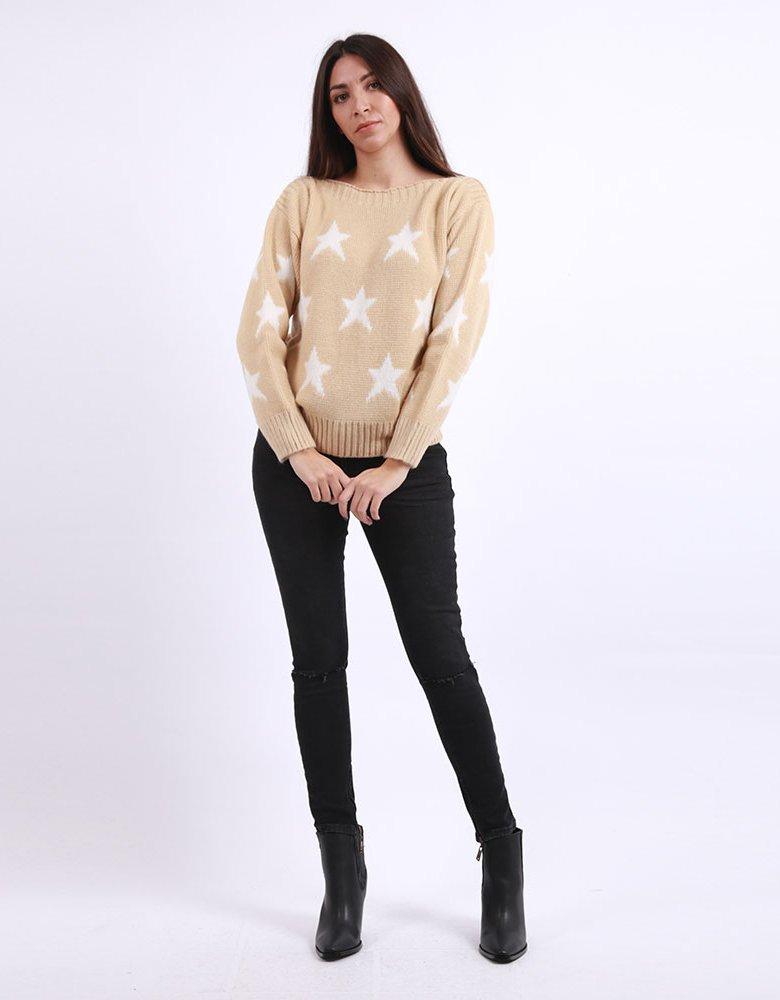Combos Knitwear Combos F73 - Beige sweater