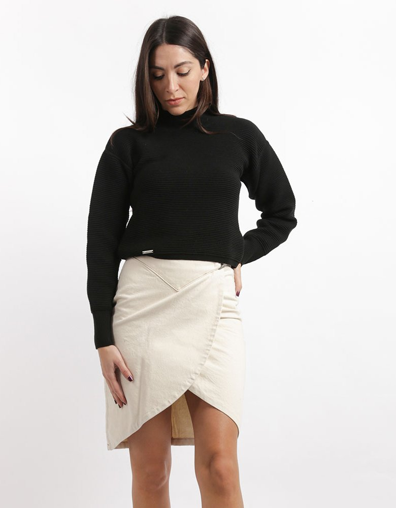 Salt & Pepper Rebecca cream skirt