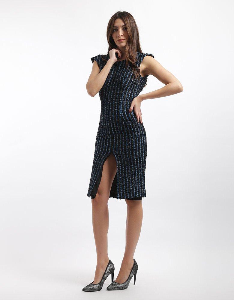 Nadia Rapti Gazella blue black dress