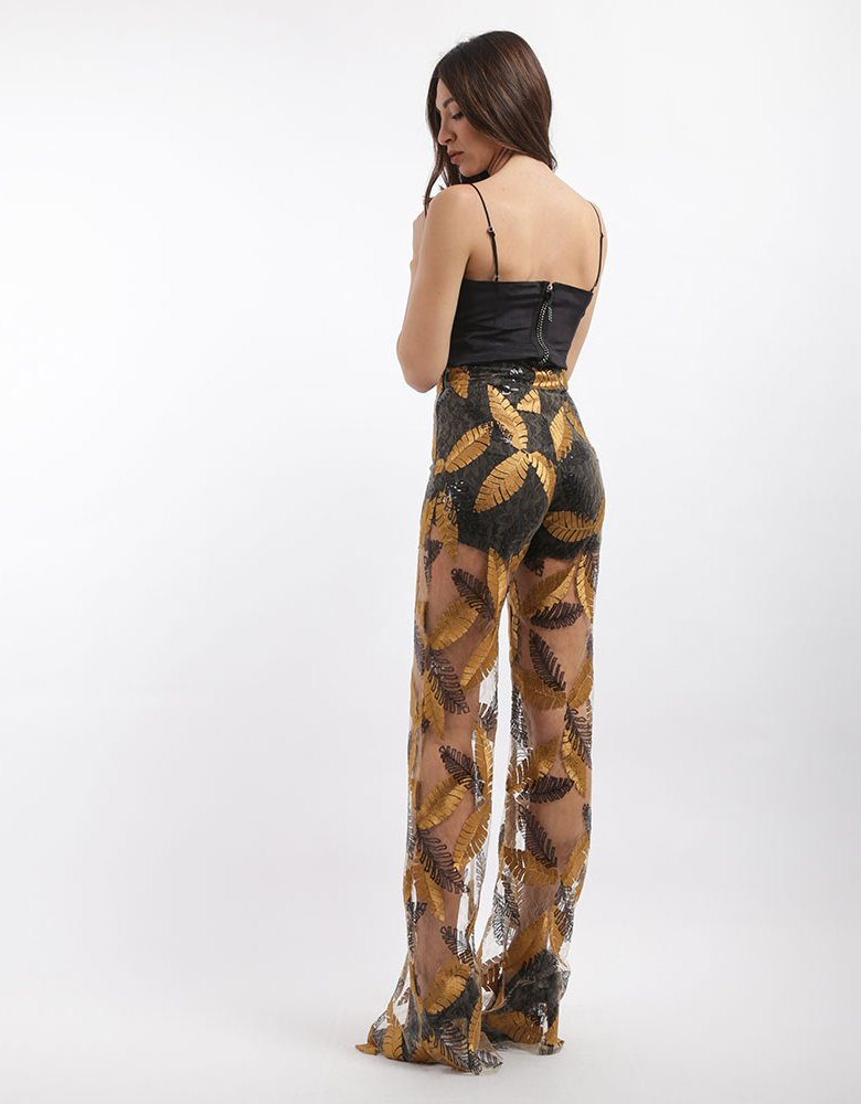 Nadia Rapti Sequins leaf pants