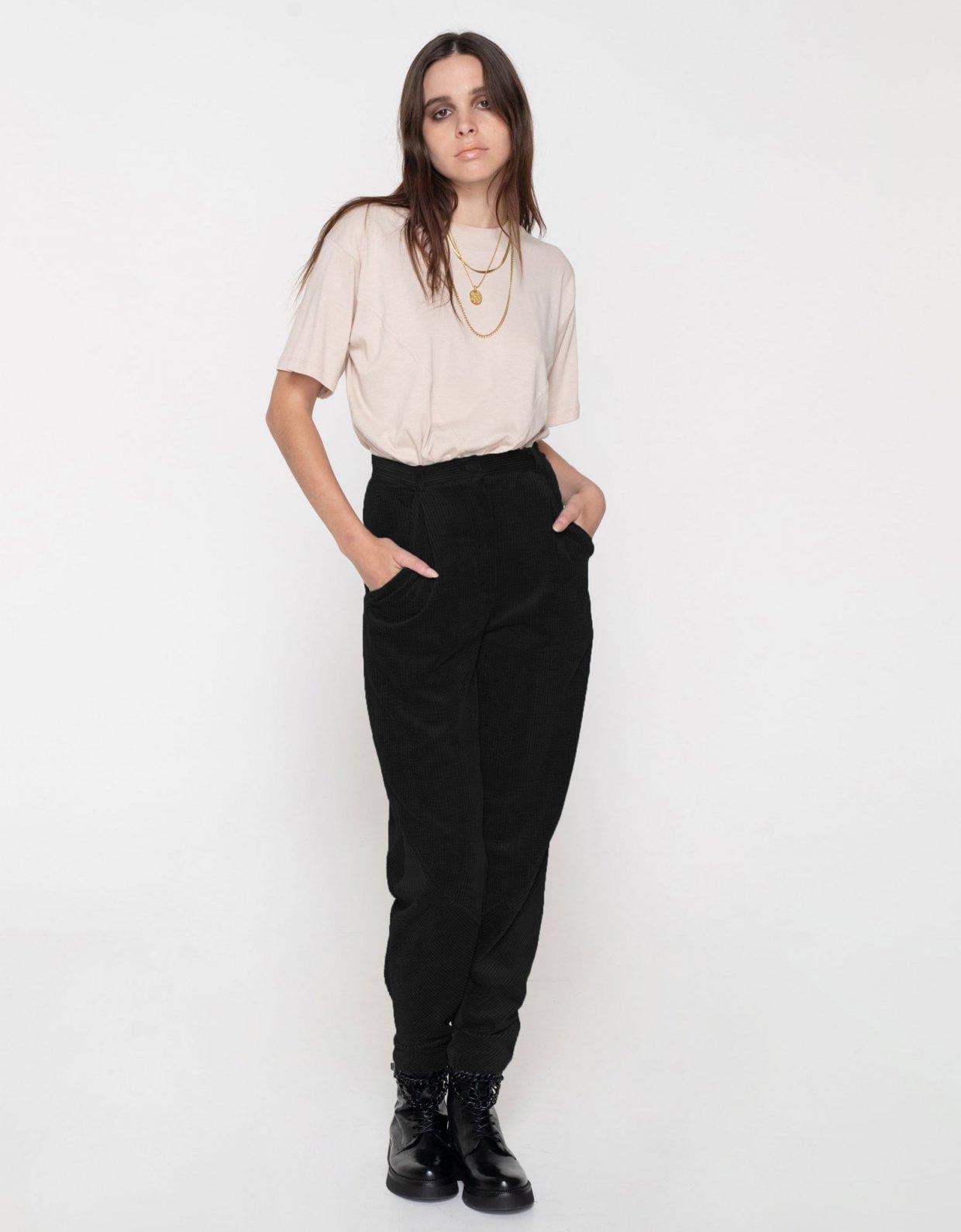Nadia Rapti Beatles cord pants black
