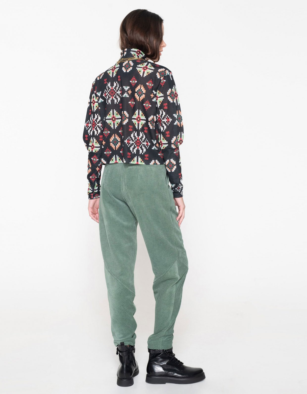 Nadia Rapti Beatles cord pants green