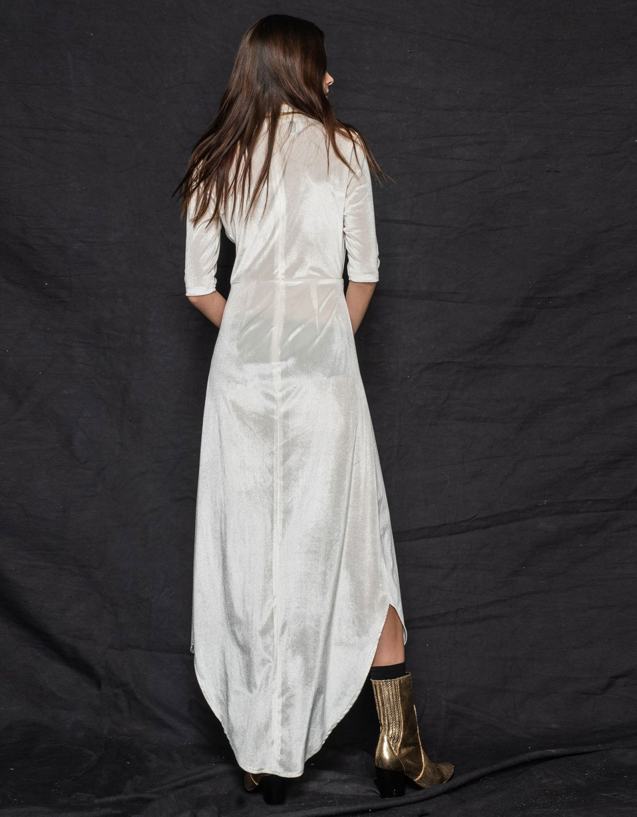 Nadia Rapti Muse cord dress off-white