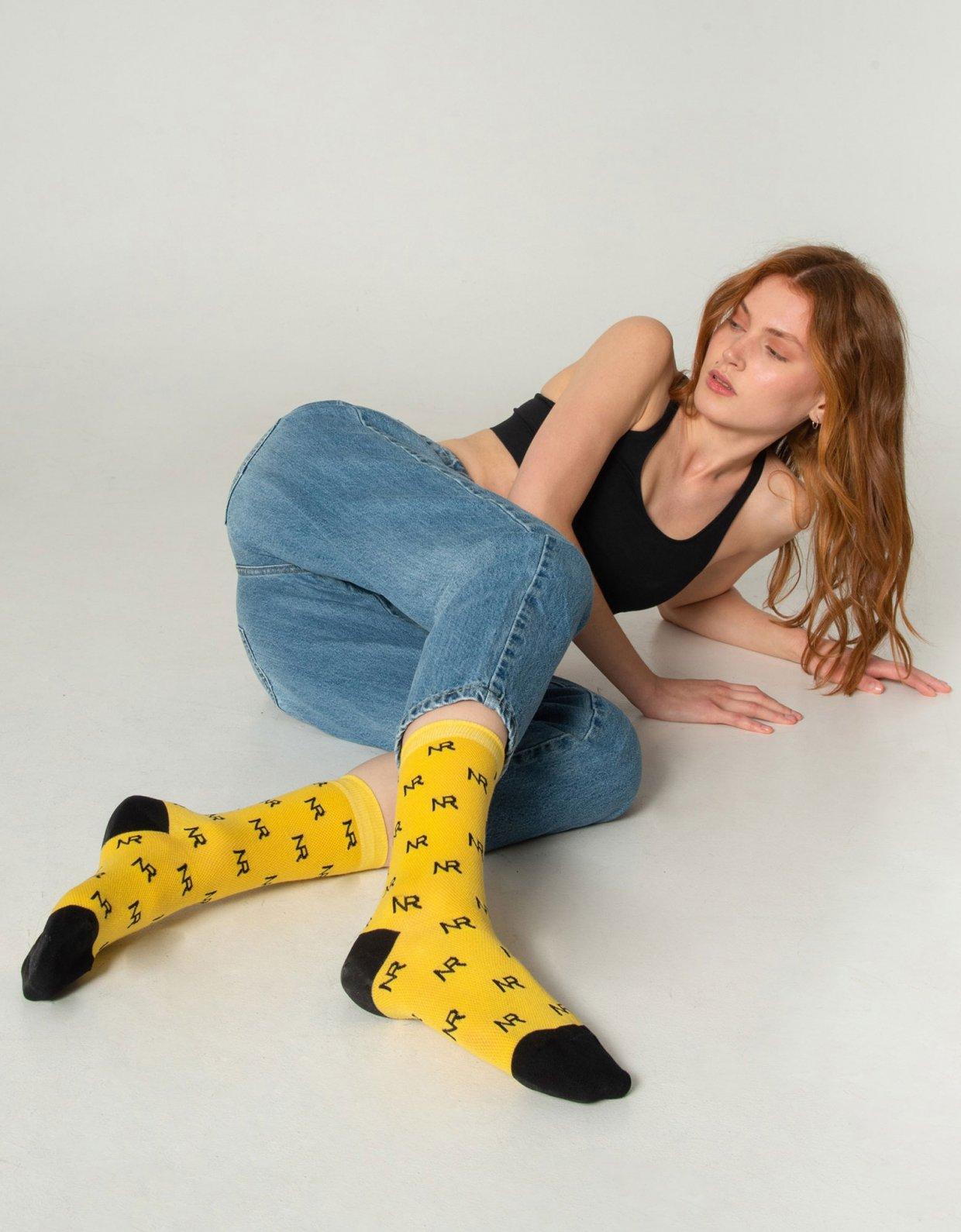 Nadia Rapti Full in logo socks yellow