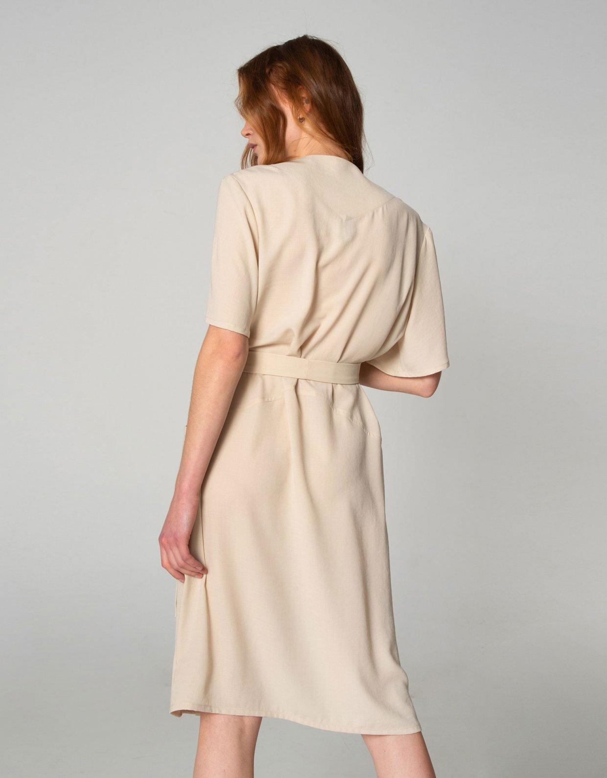 Nadia Rapti Shades of Sahara beige suit/dress
