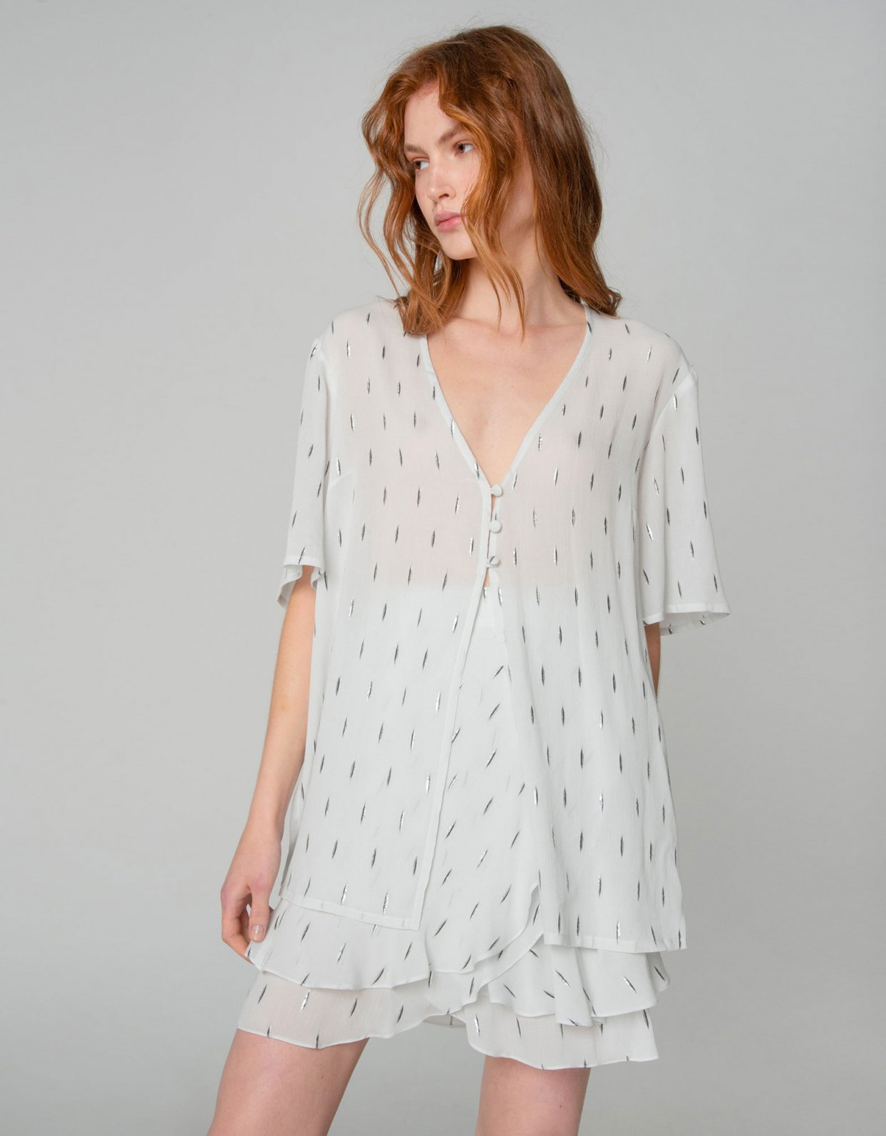 Nadia Rapti Pearl of Africa shirt white