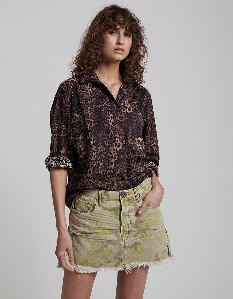 Oneteaspoon Vanguard safari camo skirt