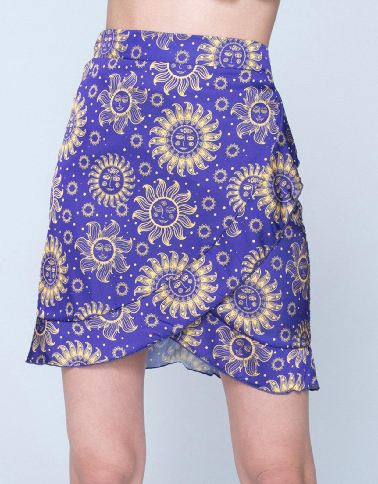 Sunset go Aria skirt sun purple
