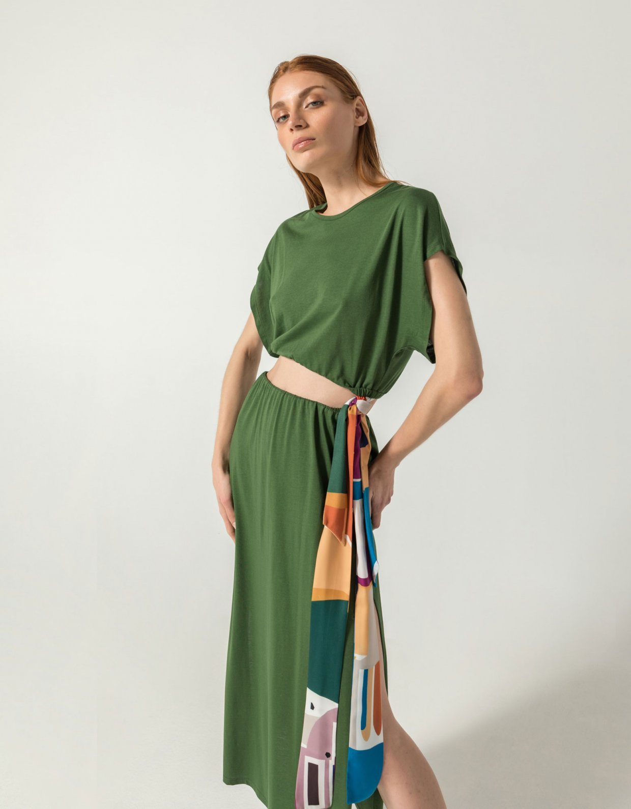 The Knl's Atene co-ords 2 in 1 dress green