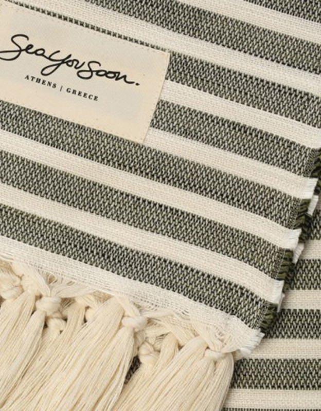 Sea you soon Tinetto khaki - Beach towel