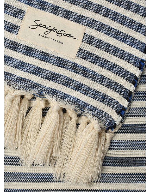 Sea you soon Tinetto blue - Beach towel