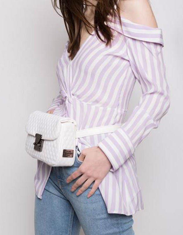Elena Athanasiou City lady white belt bag