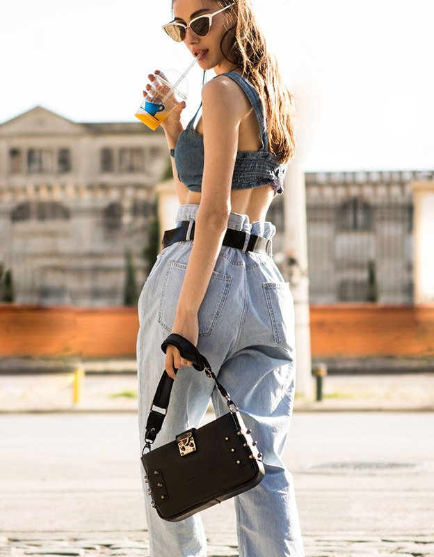 Elena Athanasiou City lady clutch black bag
