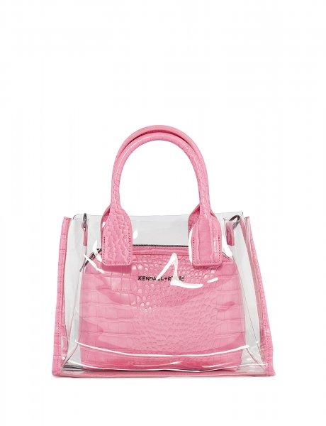 Carla crossbody/tote bag pink croco