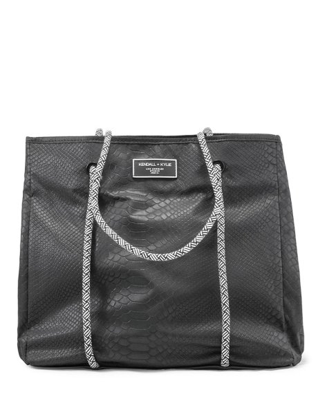 Ellie tote bag black snake
