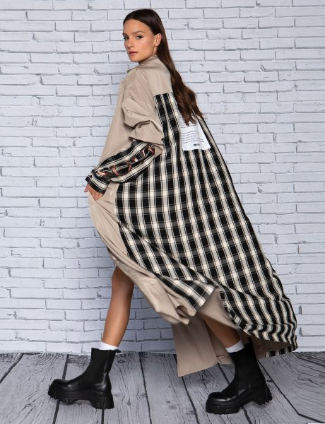 Connected trench coat
