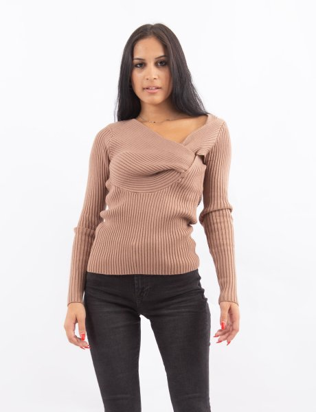 Twisted front top brown