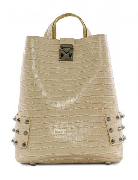 City lady backpack croco beige