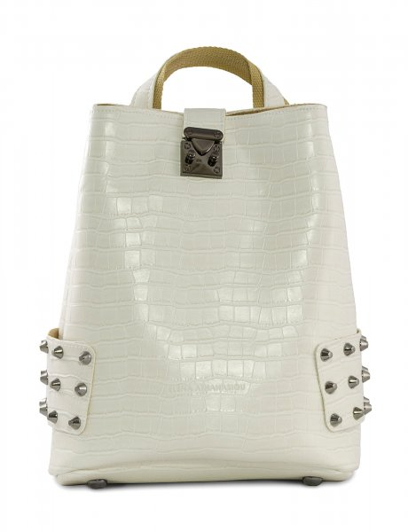 City lady backpack croco white