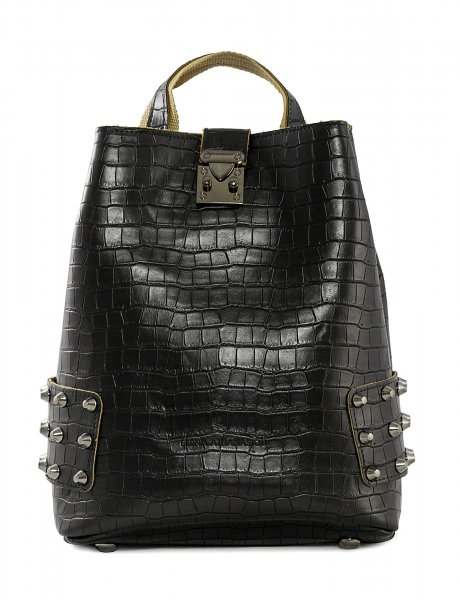 City lady backpack croco black