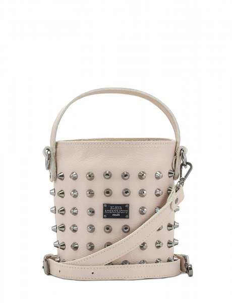 Basket bag small nude