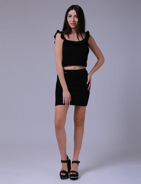 Combos S-58 black mini skirt