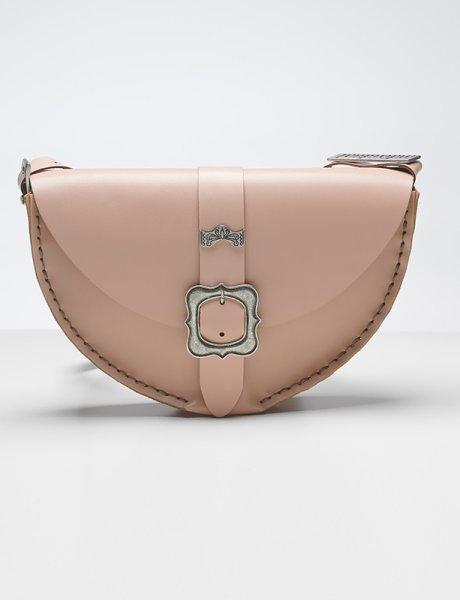 Shallow bag nude