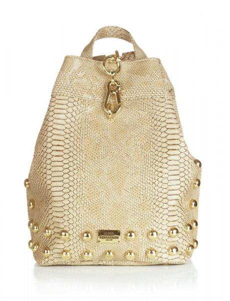 Backpack Croco Pattern Beige