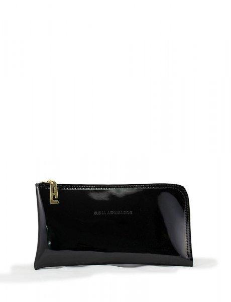 Clutch bag black vinyl