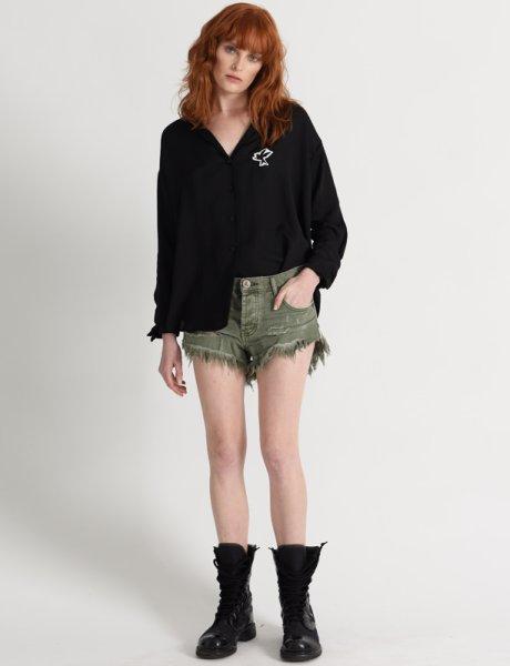 Brandos khaki denim shorts