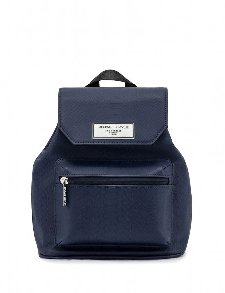 Serena mini backpack navy blue snake