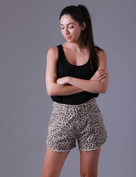 Ion leopard shorts