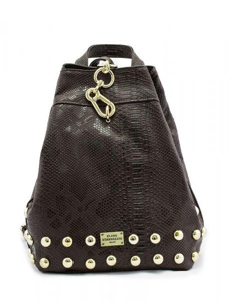 Backpack brown snake bag