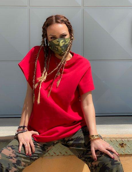 Camo P+C face mask