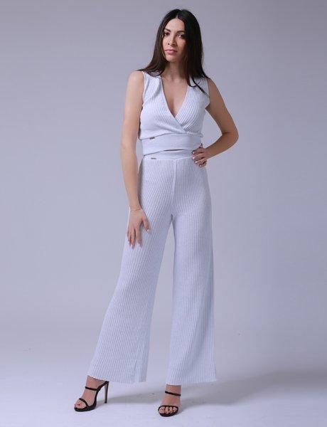Combos S-64 white lurex pants