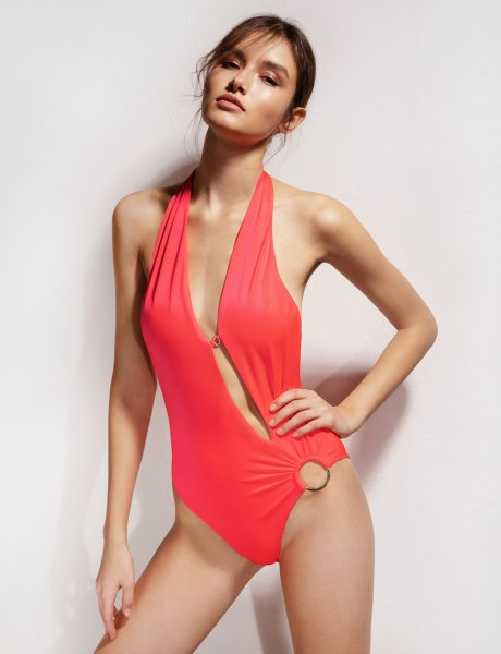 Imani electric red swimsuit