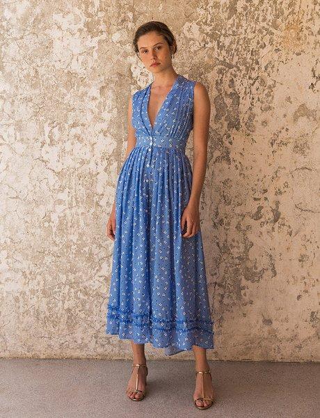 Bouche de sang blue  dress