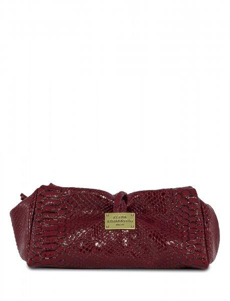 Burgundy lunch bag