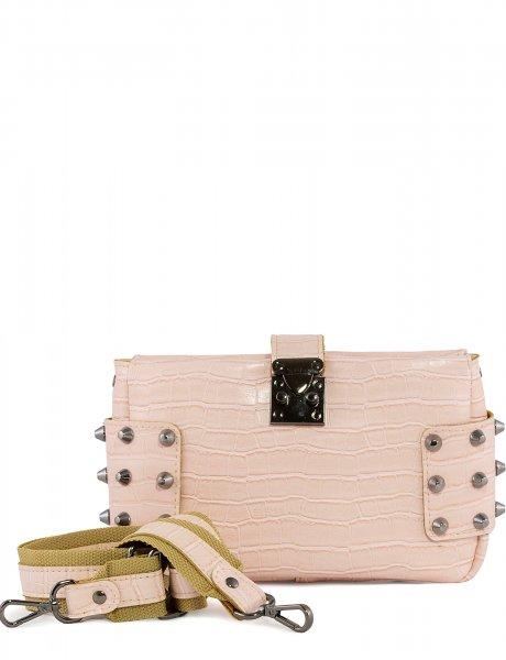 City lady croco clutch bag powder pink