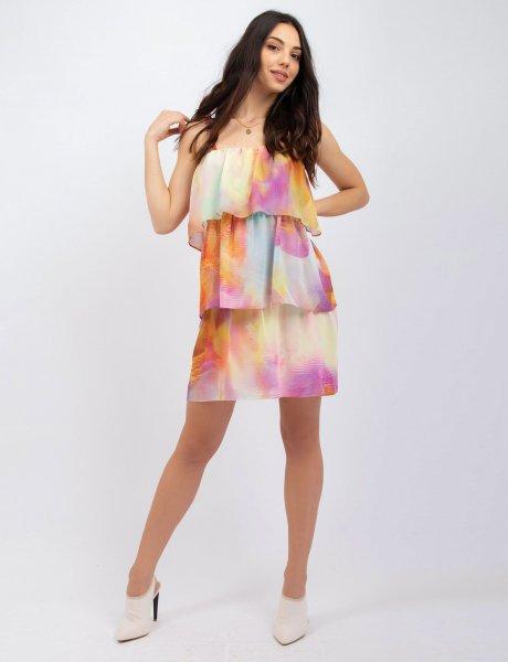 Tie dye strap dress