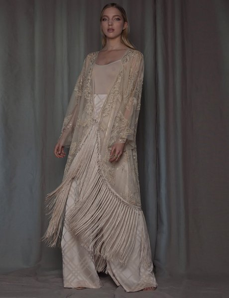 Iolite kimono dress
