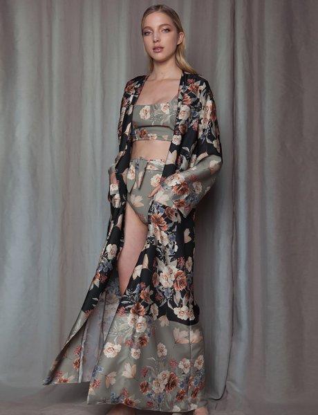 Jade robe kimono