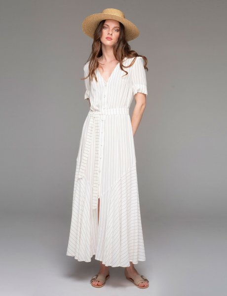 Jallais long white dress