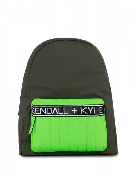 Linz backpack khaki/neon green